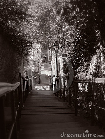 Romantische Treppen
