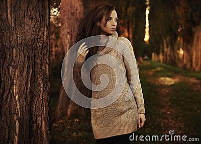 Romantyczna jesień sceneria