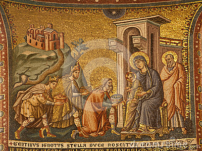 Rome -  The Adoration of the Magi.