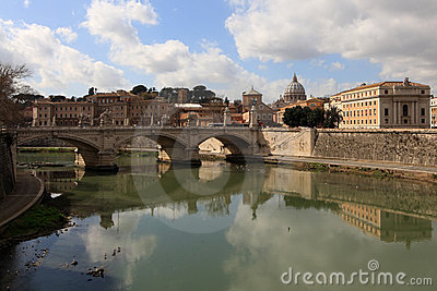 Rome, a bridge on Tevere