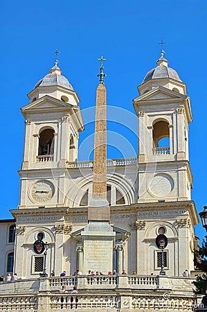 Rome church Trinita dei Monti