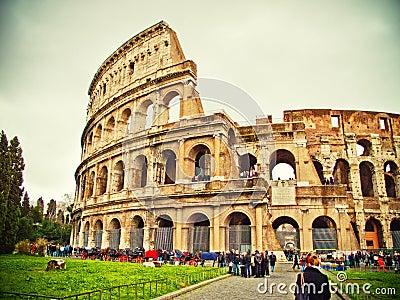 Rome Colloseum Editorial Photo