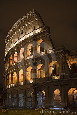 Rome Colloseum by Night