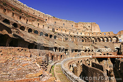 Rome Colosseum internal wide