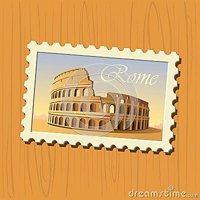 Rome colosseum stamp