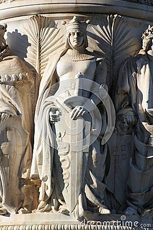 Rome - detail from Vittorio Emanuel landmark