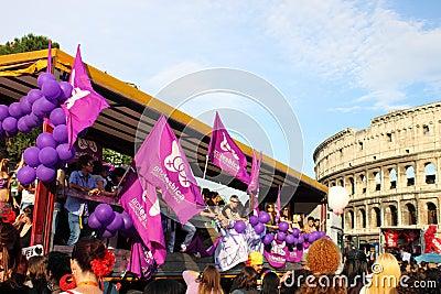 Rome Euro Pride Parade 2011 Editorial Photo
