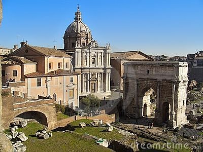 Rome forum Editorial Photography