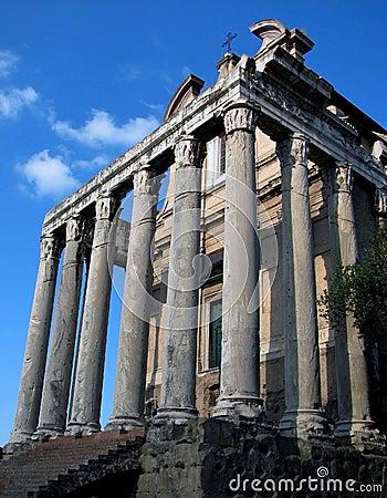 Rome Forum Temple