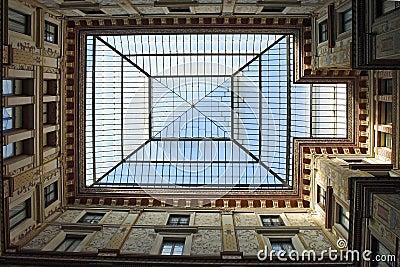 Rome, glass roof Galleries Alberto Sordi