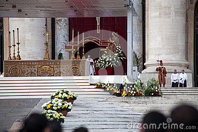 Pope Francis Speach - Installation Ceremony Editorial Photo