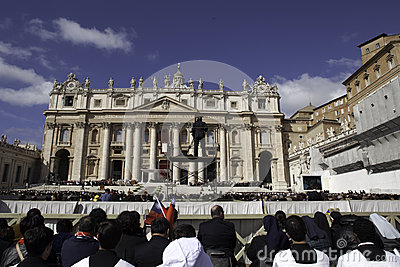 Pope Francis Inauguration Ceremony Editorial Photo