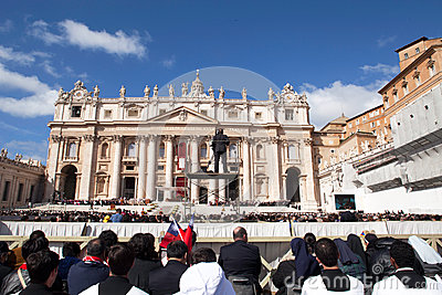Pope Francis Inauguration Ceremony Editorial Photography