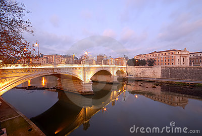 Rome, Italy, the tiber river