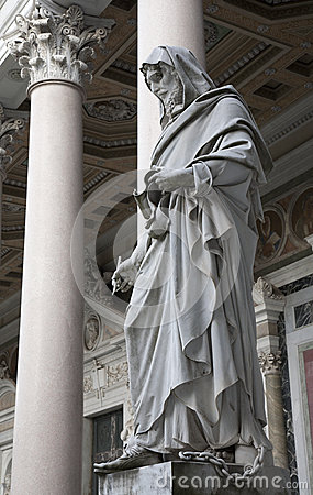 Rome - John the Evangelist statue
