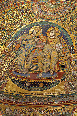 Rome - mosaic of Coronation of holy Mary