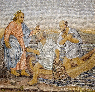 Rome - mosaic of miracle fishing