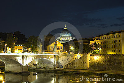 Rome night time view