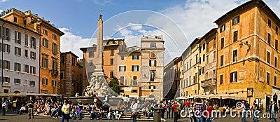 Rome Piazza della Rotonda Editorial Image