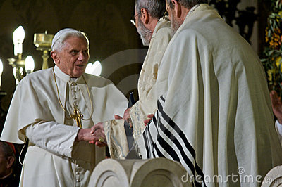 Rome/ Pope Benedictus XVI visit Synagogue of Rome Editorial Stock Image