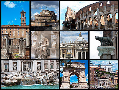 Rome postcard - collage