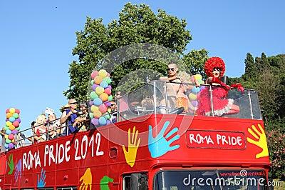 Rome Pride Parade 2012 Editorial Photo