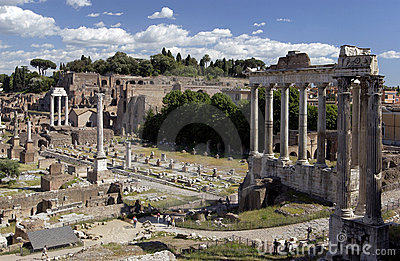 Rome - Roman Forum - Italy Editorial Photography