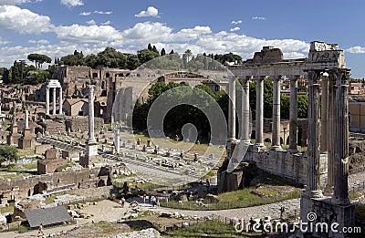 Rome - Roman Forum - Italy Editorial Photography