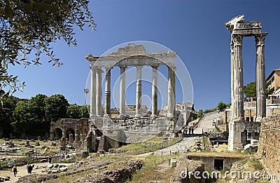 Rome - Roman Forum - Italy Editorial Stock Image