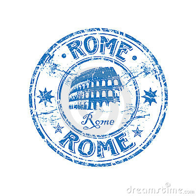 Free Rome Rubber Stamp Stock Images - 9023974