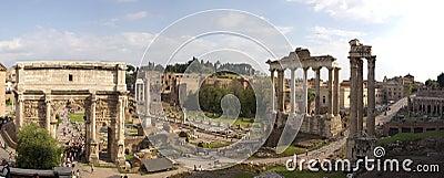 Rome ruines panorama