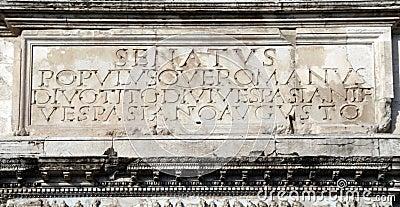 Rome s motto - Senatus Populusque Romanus