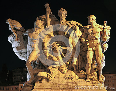 Rome - Sculpture from Vittorio Emanuele bridge