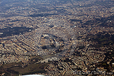 Rome seen from the window of my airplane