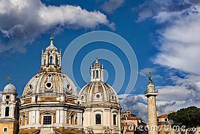 Rome skyline in city center