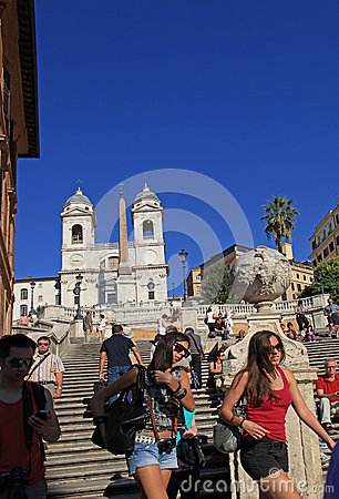 Rome, Spanish Steps Editorial Photography
