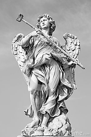 Free Rome -  Statue Of Angel With The Sponge By Sculptor Antonio Giorgetti From Angel S Bridge Stock Image - 52997861