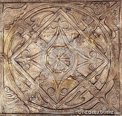 Rome - sun and cross - christians symbols