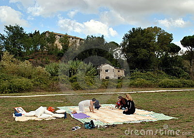 Rome - Third Sunday of the Picnic Editorial Image