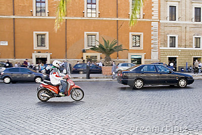 Rome Traffic Editorial Image