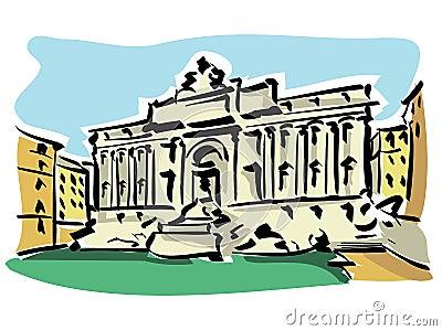 Rome ( Trevi Fountain)