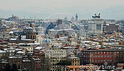 Rome under snow