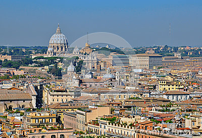 Rome and Vatican cityscape