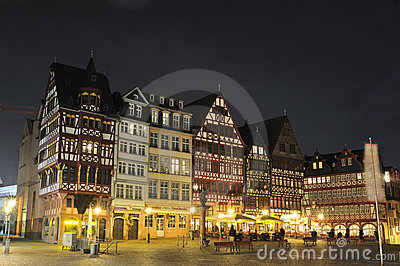 Romerberg square in Frankfurt, Germany Editorial Photo