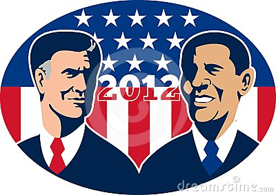 Romney Vs Obama American Elections 2012 Editorial Photo