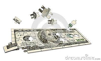Rompecabezas conceptual del dinero