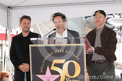 Ron Howard,Russell Crowe,Brian Grazer Editorial Image