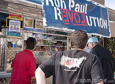 Ron Paul Supporter at GOP Presidential Debate 2012 Editorial Photo