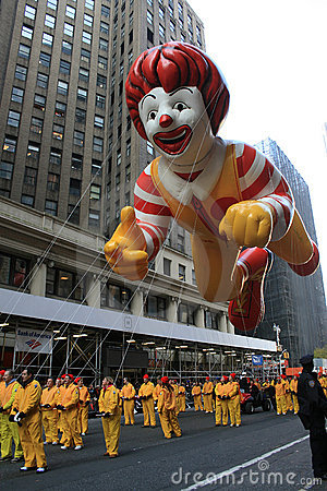 Ronald McDonald Balloon. Editorial Image