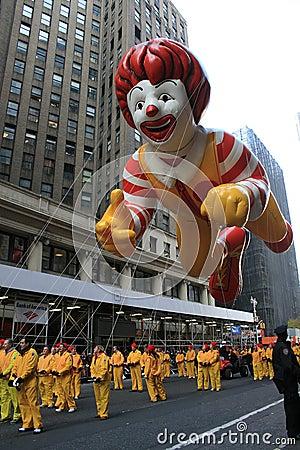 Ronald McDonald Balloon. Editorial Image